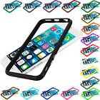 For Apple iPhone 6 (4.7) TPU Bumper Frame Slim w/ Metal Buttons Skin Case Cover