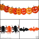 ORANGE PUMPKIN BAT SPIDER HALLOWEEN PARTY DECORATIVE PAPER GARLAND DECOARTION 3M