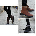 New style Men's shoes High PU Leather Shoes Fashion Martin Boots Military Shoes