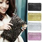 Women Glitter Sparkling Shining Sequins Evening Party Clutch Handbag Bags Purse