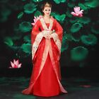 Women Chinese Flower Embroidered Dress Robe Traditional Ancient Dramaturgic New