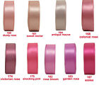 "15y 9mm 3/8"" Shocking Pink Mauve Azalea Double Sided Satin Ribbon Eco Premium"