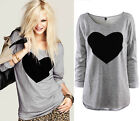 Women Cotton Soft Long Sleeve R Neck Loose Solid Casual T-Shirt Tee Tops Blouse