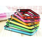 NEW Profession Bumper Frame Silicone Skin Case With Side Button For iPhone 4S