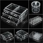Clear Acrylic Makeup Cosmetic Case Liner Lip Brush Holder Organizer Drawer Stand