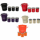 3 Piece Colour Tea Coffee Sugar Storage Kitchen Canisters Set Free Compost Bin