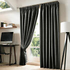Ashley Wilde Nevin Slate Charcoal Grey Pencil Pleat Ready Made Blackout Curtains