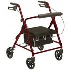 Compass Health Bariatric Rollator Walker 400 lbs. Capacity,  Red or Blue