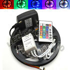 5M 3528 5050 SMD RGB Non-waterproof Flexible Strip 300 LED 24K 44K Light 16Ft