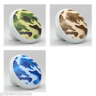 Camouflage Blue , Brown or Green Ceramic Knobs Kitchen Drawer Cabinet Vanity 782