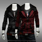 2014 Men's Slim Fit Sexy Top Designed Hoodies Jackets Coats 2 Color 4 Size-USHF