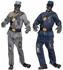 Adult Confederate Union Zombie Blue Grey One Size Fancy Dress Costume Halloween