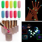 10 Colors Nail Art Fluorescent Varnish Soak-off Gel UV LED Polish 15ml X 1