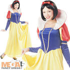 Snow White Ladies Fancy Dress Fairytale Princess Womens Adult Costume Outfit New