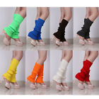 Fashion Women's Crochet Knit Solid Color Winter Wool Leg Warmers Legging Socks