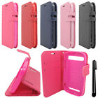 For ZTE Warp Sync N9515 Deluxe PU Wallet LEATHER POUCH Case Cover Phone + Pen