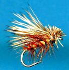 Tan Elk Hair Caddis Dry Fly Fishing Flies - Select Quantity and Hook Size
