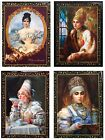 RUSSIAN LACQUER BOX/RUSSIAN LIFESTYLE/PORTRAITS/3'' x 4''/PICK YOUR DESIGN