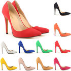 HOTSALE WOMENS HIGH HEELS STILETTO PUMP FAUX SUEDE SHOES SIZE UK 2 3 4 5 6 7 8 9