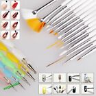 20pcs Useful Nail Art Care Design Set Dotting Painting Drawing Polish Brush Pen