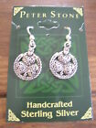 Shamrock Celtic Knot Handcrafted Sterling Silver Earrings, Peter Stone
