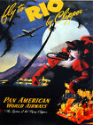 9940.Pan american.Rio Brazil woman in red.POSTER.home decor graphic art