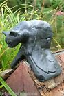 Black cat roof finial 90° angled or half round decorative stone ridge tile