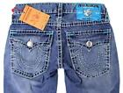 NEW TRUE RELIGION MEN'S PREMIUM DENIM JEANS RICKY SUPER T STRAIGHT LEG SIZE 32