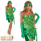 Poison Ivy Ladies Halloween Fancy Dress Womens Comic Book Adults Costume Outfit