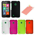 For Nokia Lumia 530 Cover Hard Rubberized Case + Screen Protector Accessory