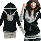 New Warm Women Jumper Long Sleeve Cotton T shirt  Hooded Top Blouses Sport Tunic