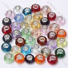 5pc Multi Color Crystal Glass European Beads Fit Charm Bracelet Large Hole Gift