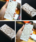 Hot Henna White Floral Paisley Back Case Cover For Iphone 4S 5 5S 5C 6 & 6 plus