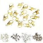 20pc Silver/Gold/Dark Silver/Bronze Charm Metal Lobster Claw Clasps Accessories