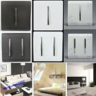 New Decorative Gloss Light Chrome Switch Socket Plates Bedroom 1 2 Gang Way