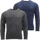 Tokyo Laundry Mens Cable Knit Jumper Long Sleeve Knitwear New