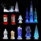 Colour Changing LED Light Up Glitter Water Ornament Christmas Xmas Decoration