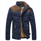 NEW Mens Premium Casual Cotton Jacket Winter Thermal Wadded Jacket Warm Coat