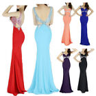 Mermaid Fishtail SEXY Backless Formal Long Evening Party Prom Bodycon Dresses GK