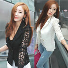 Size 8-22 New Womens Ladies Stylish Casual Suit Lace Coat Jacket Blazer Top HOT