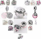 925 Sterling Silver JAIME Pink CZ Charms fit European Charms Beads Bracelets