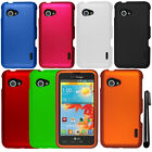 For LG Enact VS890 Rubberized HARD Protector Case Cover Phone Accessory + Pen