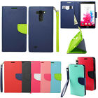 Designer Leather Wallet Pouch Cover Hard Case For LG G Vista VS880 Accessory
