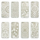 Tribal  Mandala  Lotus Flower TPU Bumper Clear Hard case For iPhone 4 4s 5 5s 6