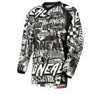 ONeal Element Kinder Jersey WILD Schwarz Weiß MotoCross MountainBike Trikot Kid