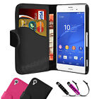 Book Flip Wallet Leather Case Cover Pouch For SONY Xperia Z3 Compact / Mini