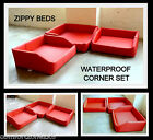 ZIPPY WATERPROOF DOG BEDS LARGE CORNER SET HOSE DOWN WIPE CLEAN FABRIC WASHABLE