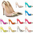 New Womens Patent High Heels Corset Platform Pumps Shoes Size UK 2 3 4 5 6 7 8 9