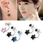 Pair Korean Fashion Lovely Beauty Star Rhinestones Eardrop Stud Earring Gift