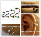 1pc 16G Stainless Steel Twist Hoop Captive Nose Lip Eyebrow Ring Earring Jewelry